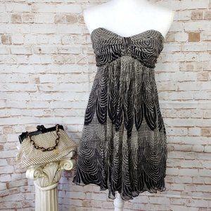 Express Size 4 100% Silk Strapless Mini Dress